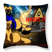 Space The Ferret Frontier  Throw Pillow
