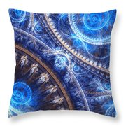 Space-time Mesh Throw Pillow