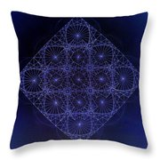 Space Time Sine Cosine And Tangent Waves Throw Pillow