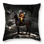 Space Tourist Throw Pillow by Vitaliy Gladkiy