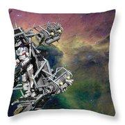 Space Walk Pod Throw Pillow