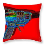 Spacegun 20130115v1 Throw Pillow