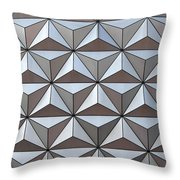 Spaceship Close Up Throw Pillow