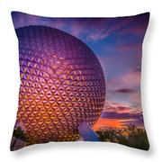 Spaceship Earth Glow Throw Pillow