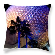 Spaceship Earth Throw Pillow