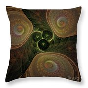 Spaceship Three Throw Pillow