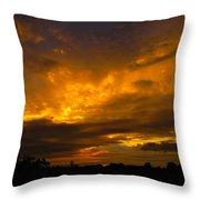 Spacey Sunset Throw Pillow