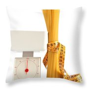 Spaghetti And Scale Throw Pillow
