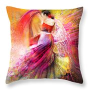 Spain - Flamencoscape 12 Throw Pillow