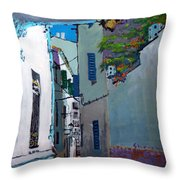 Spain Series 09 Cadaques Throw Pillow