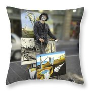Painter In Spain Series 23 Throw Pillow