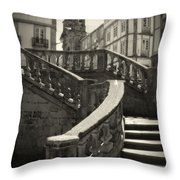 Plaza Stairs In Spain Series 24 Throw Pillow