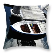 Row Boat In Spain Series 28 Throw Pillow