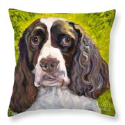 Spaniel The Eyes Have It Throw Pillow
