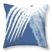Spanish Air Force C101 Of The Patrulla Throw Pillow