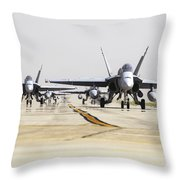 Spanish Air Force Ef-18m Hornets Throw Pillow