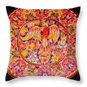 Spanish Bird Plate Throw Pillow
