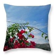 Spanish Bougainvillea Throw Pillow