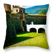 Spanish Castle Throw Pillow
