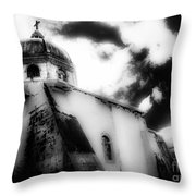 Spanish Cathedral Philippines Throw Pillow