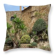 Spanish Church Garden Throw Pillow