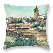 Spanish Church Tower Throw Pillow