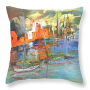 Spanish Harbour 02 Throw Pillow