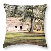 Spanish House Mission San Luis Tallahassee Throw Pillow