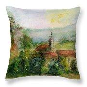 Spanish Landscape Throw Pillow