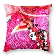 Spanish  Mardi Gras Parade Finery Louisiana Throw Pillow