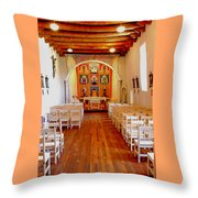 Spanish Mission Church New Mexico Throw Pillow