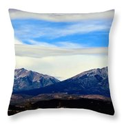 Spanish Peaks Magnificence Throw Pillow