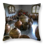 Spanish Pottery Shop Throw Pillow