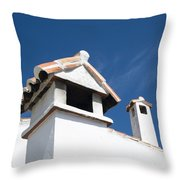Spanish Rooftops Throw Pillow by Anne Gilbert