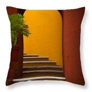 Spanish Stairway Throw Pillow