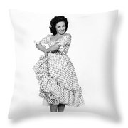 Spanish Star Carmen Sevilla. Throw Pillow