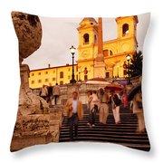 Spanish Steps Throw Pillow