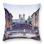 Spanish Steps Famous Stairway Rome Italy Throw Pillow