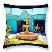 Spanish Water Fountain De San Francisco Conchos Throw Pillow