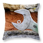 Spanner And Bolt Throw Pillow