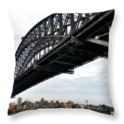 Spanning Sydney Harbour Throw Pillow by Kaye Menner