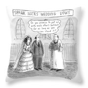 Spark Notes Marriage Vows -- A Minister Says Throw Pillow