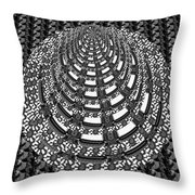 Sparkle Bnw White Pyramid Dome Ancient Arch Architecture Formation Obtained During Deep Meditation W Throw Pillow