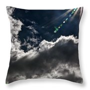 Sparkle From Above Throw Pillow