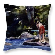 Sparkle Lake Throw Pillow