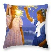 Sparkler Duet Throw Pillow