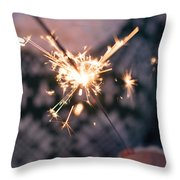 Sparkler  Throw Pillow by Viktor Pravdica