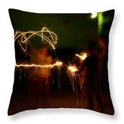 Sparklers Throw Pillow