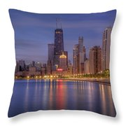 Sparkling Chicago  Throw Pillow