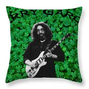 Sparkling Clover Throw Pillow